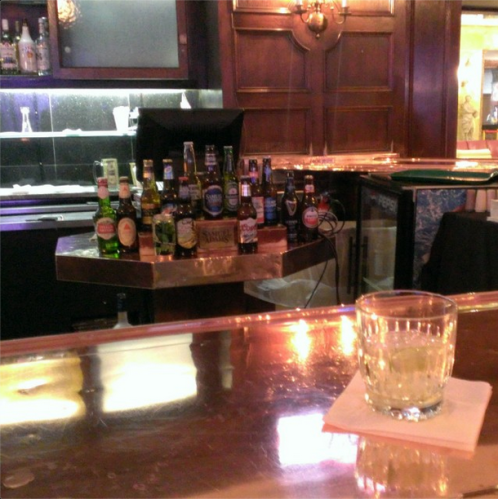 The hammered copper bar shines at the Congress Lounge. Click to view and follow us on Instagram.